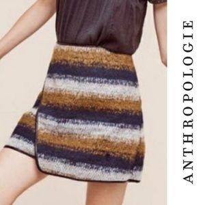 Maeve | M Anthropologie Salon Wool Mini Skirt